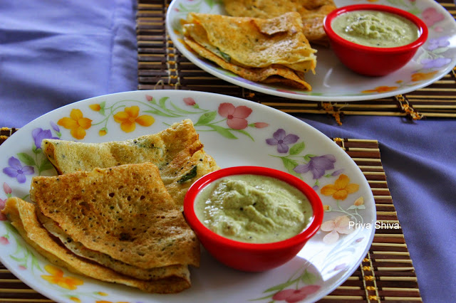 Carrot Mint Dosa