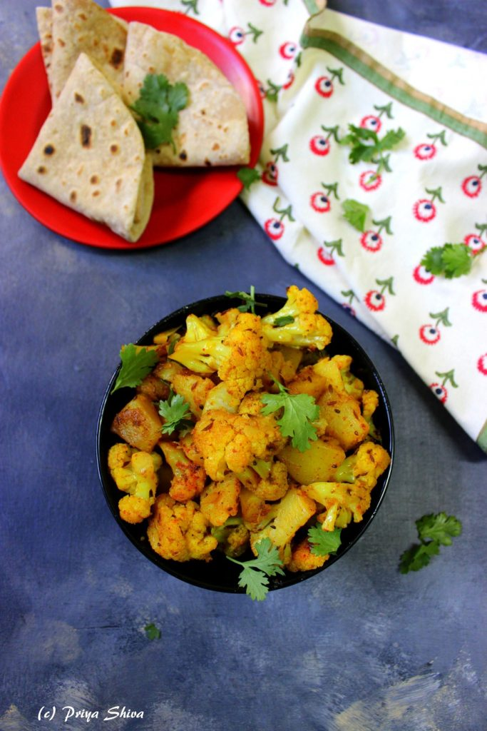Aloo Gobi ki Sabzi / Spicy Cauliflower Potato Stir-Fry