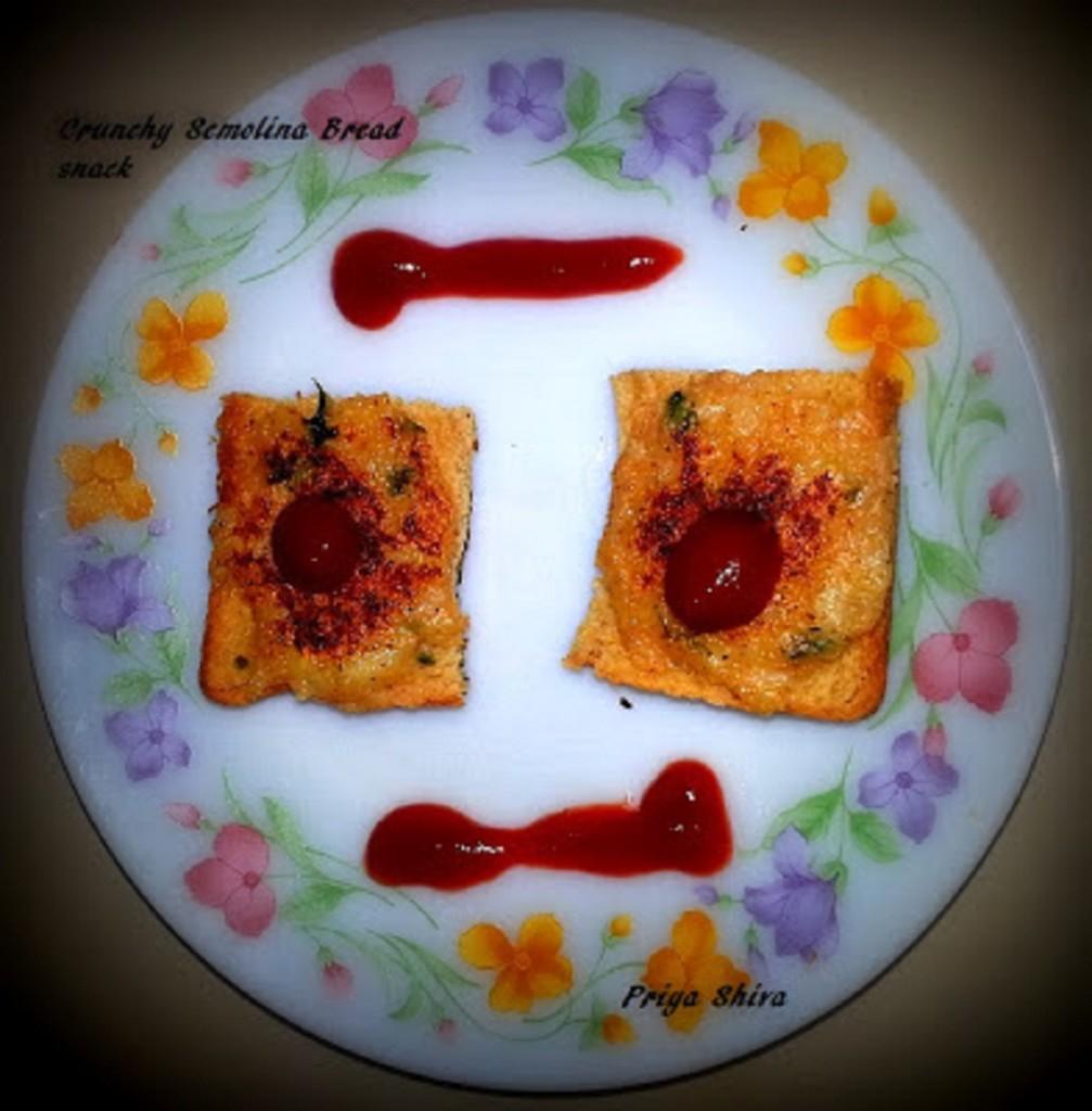 Crunchy Semolina Bread snack