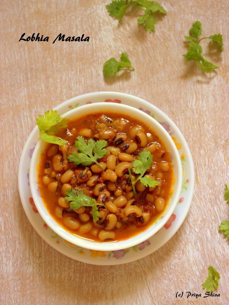 Lobhia Masala / Black Eyed Beans Curry