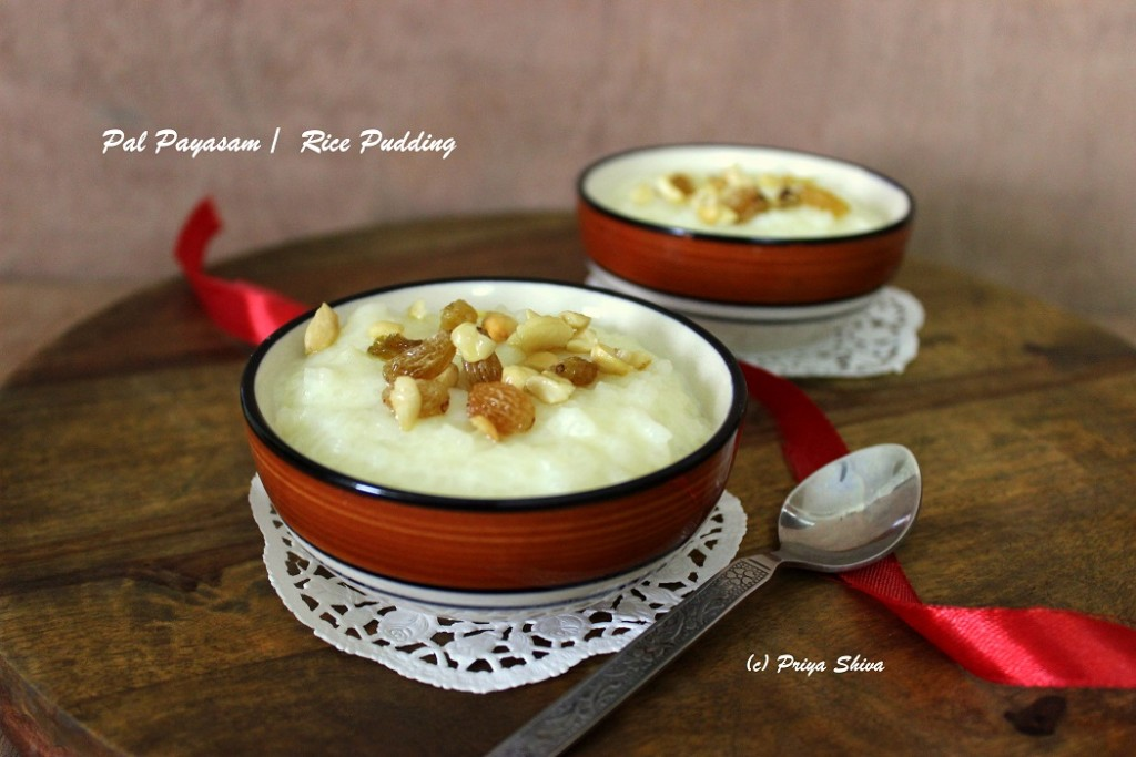 Pal Payasam / Kheer / Rice pudding