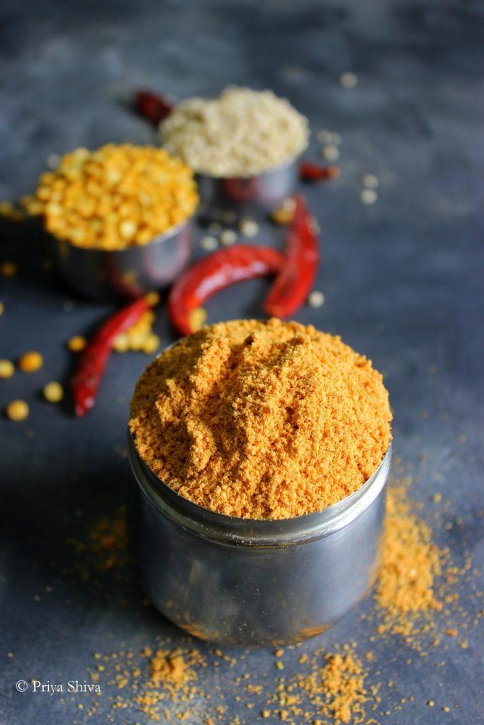Idli Milagai Podi / Spicy Idli Chutney Powder