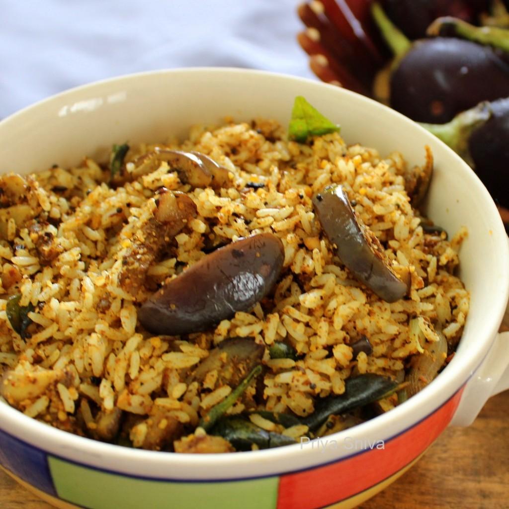 Vangi Bhaat Recipe – Brinjal Rice