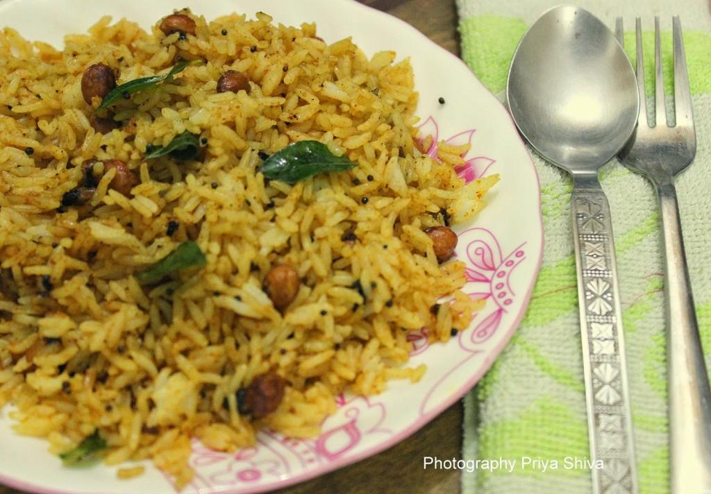 Tamarind Rice / Puliyodharai Sadam