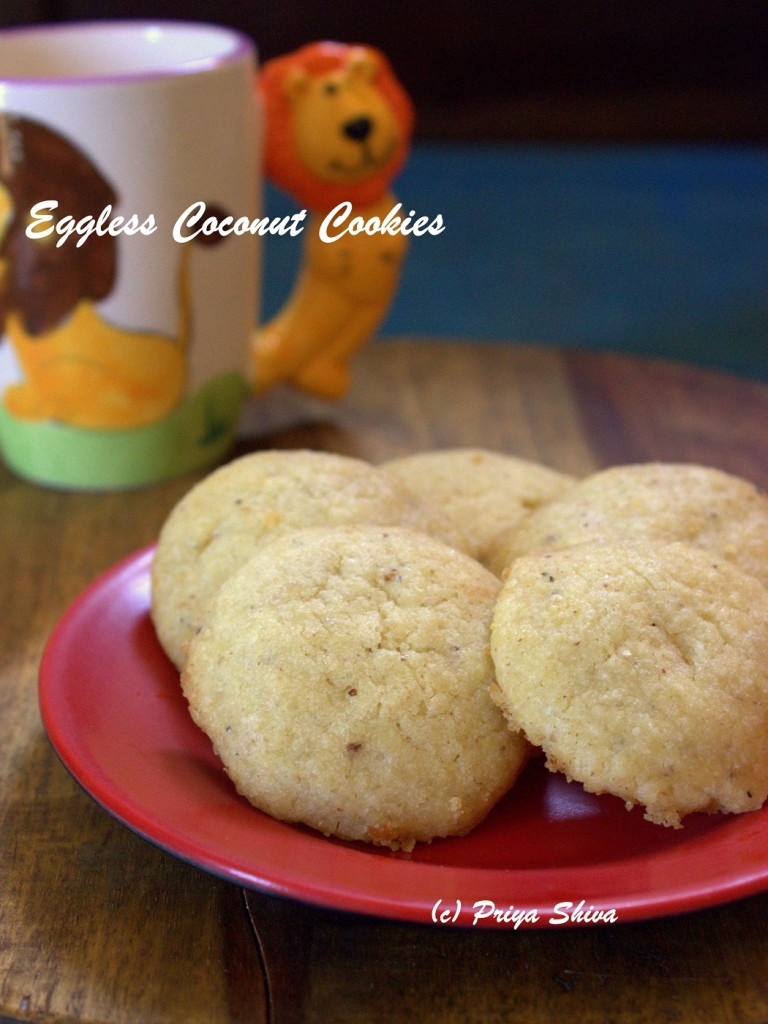 Eggless Coconut Cookies