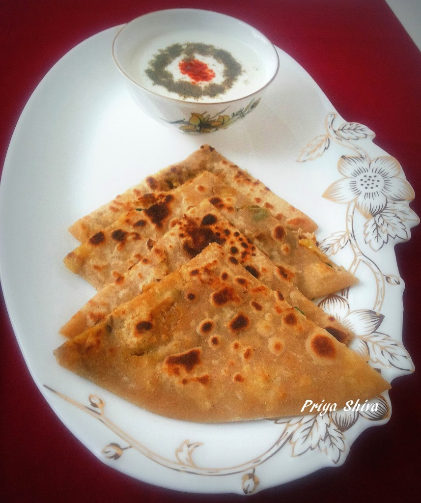 Cabbage Parathas