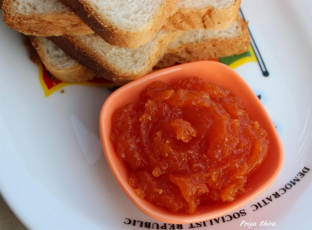 Microwave Papaya Apple Jam Recipe