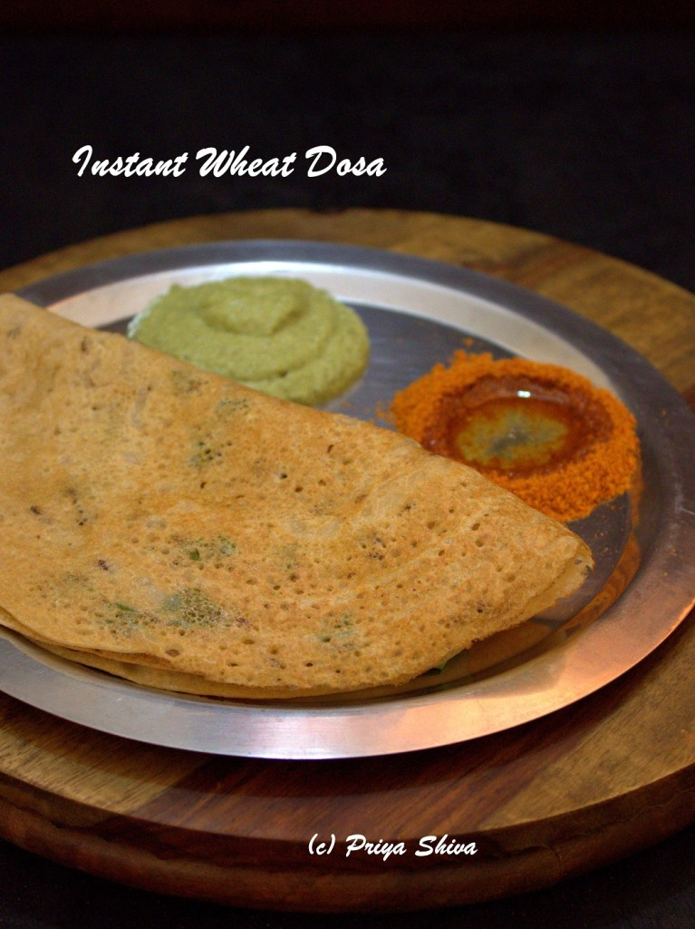 Instant Wheat Dosa / Godhumai Dosa
