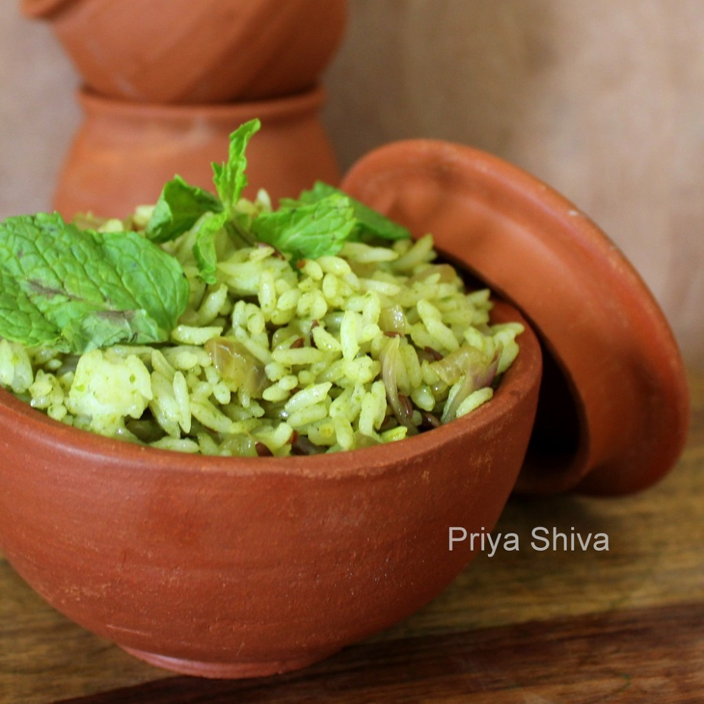 Mint Rice / Pudina Rice