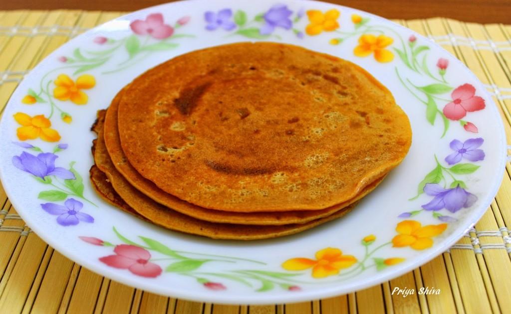 Vella Dosai / Jaggery Pancakes / Jaggery Dosa
