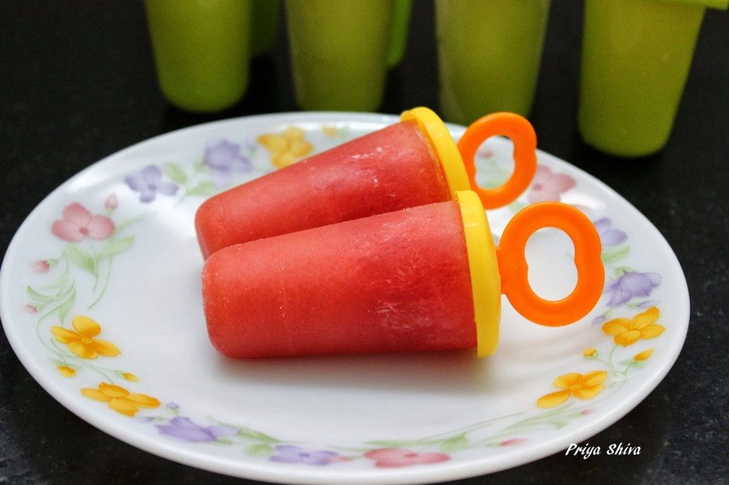 Watermelon Popsicles / Watermlon Pops