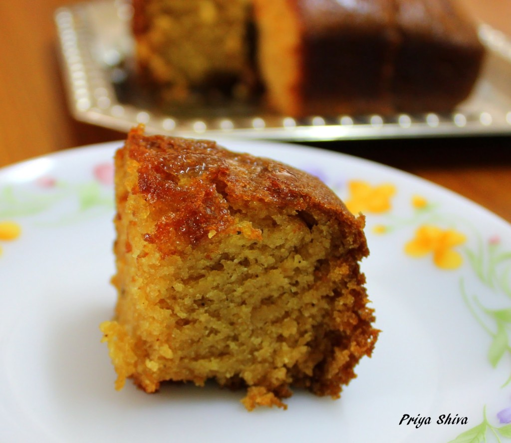 Eggless Milkless Banana Cake