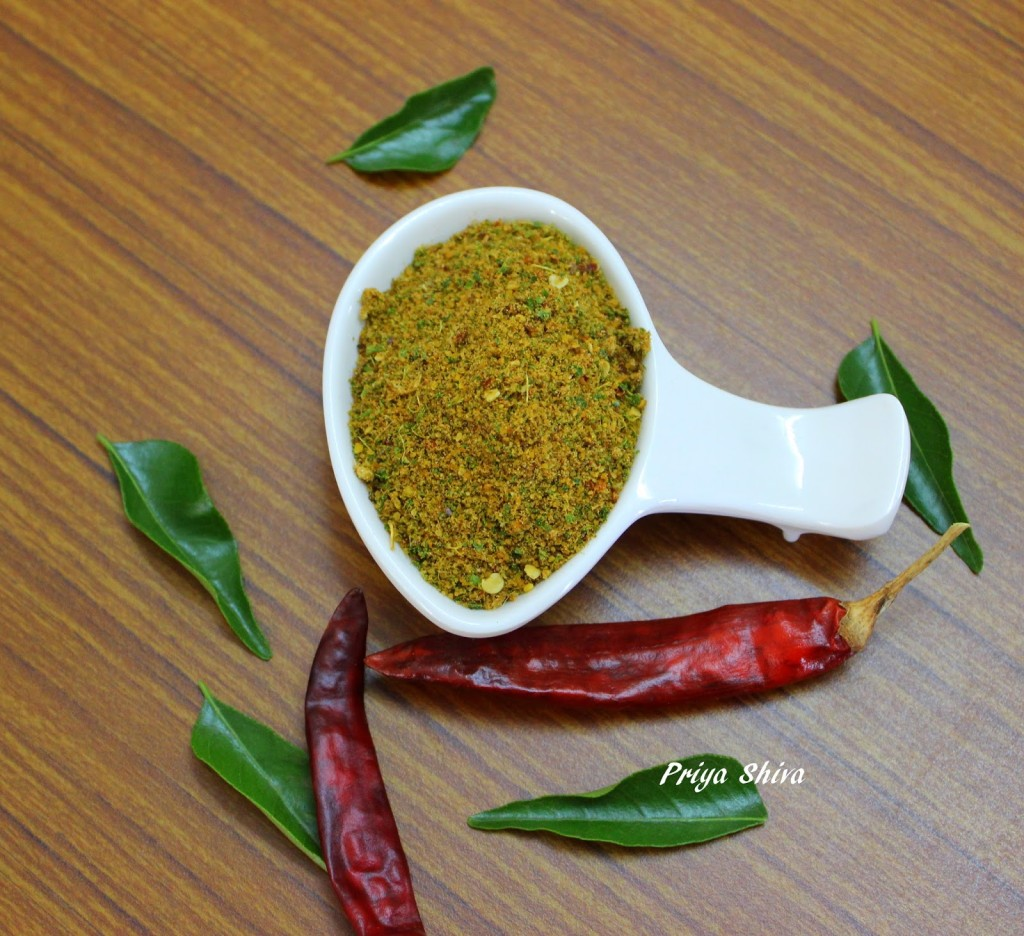 Curry Leaves Powder / Karuvepillai Podi