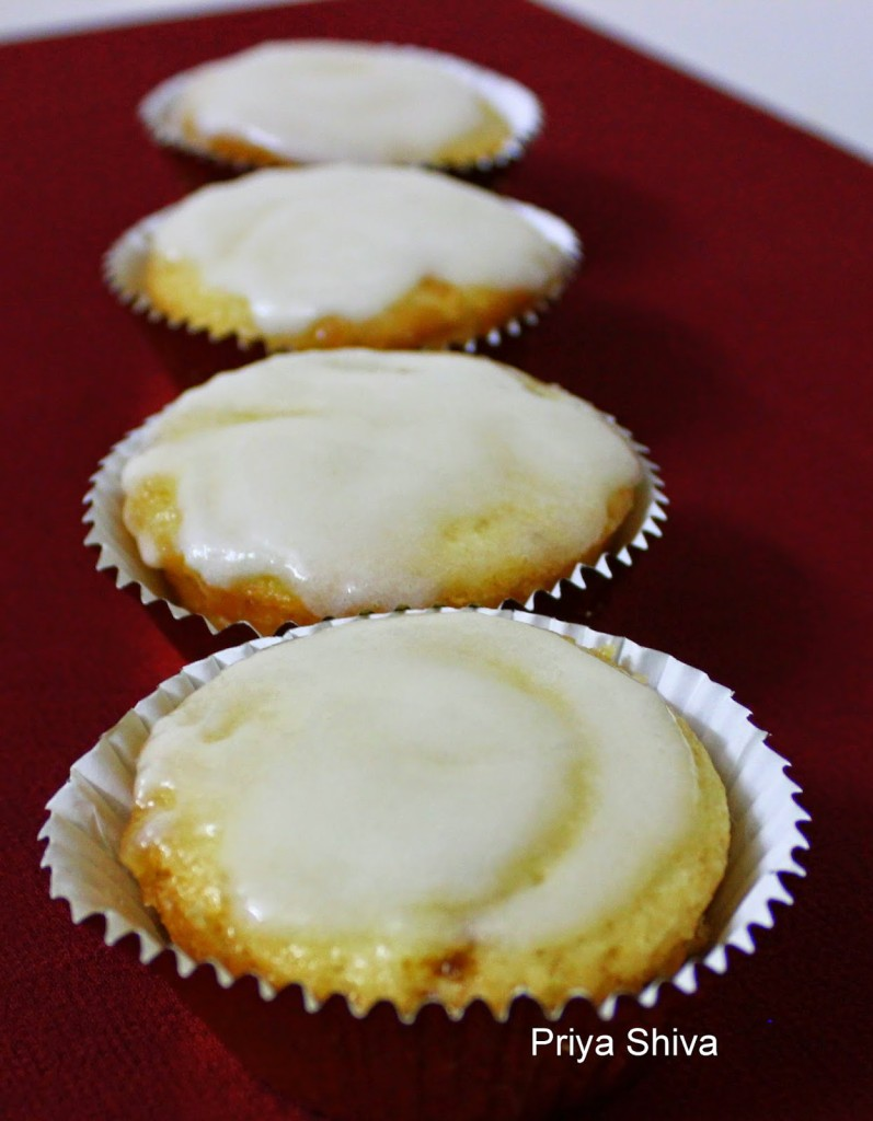 Eggless Lemon Cupcake