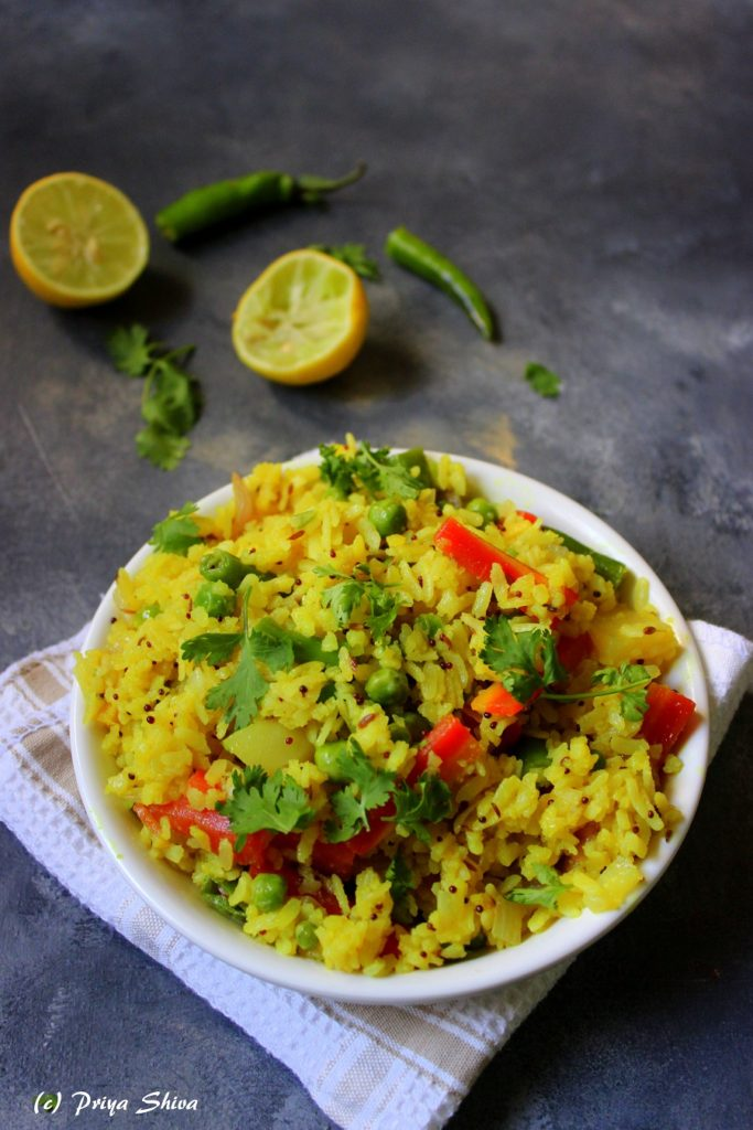 Kanda Poha – Vegetable Poha recipe