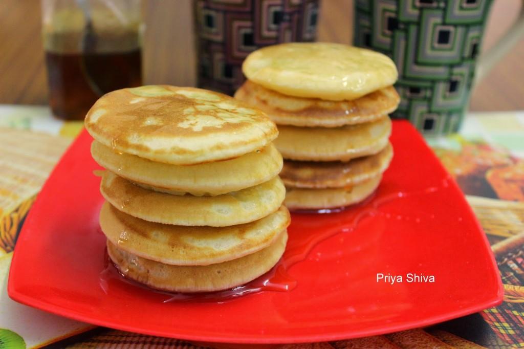 Fluffy Eggless Pancakes