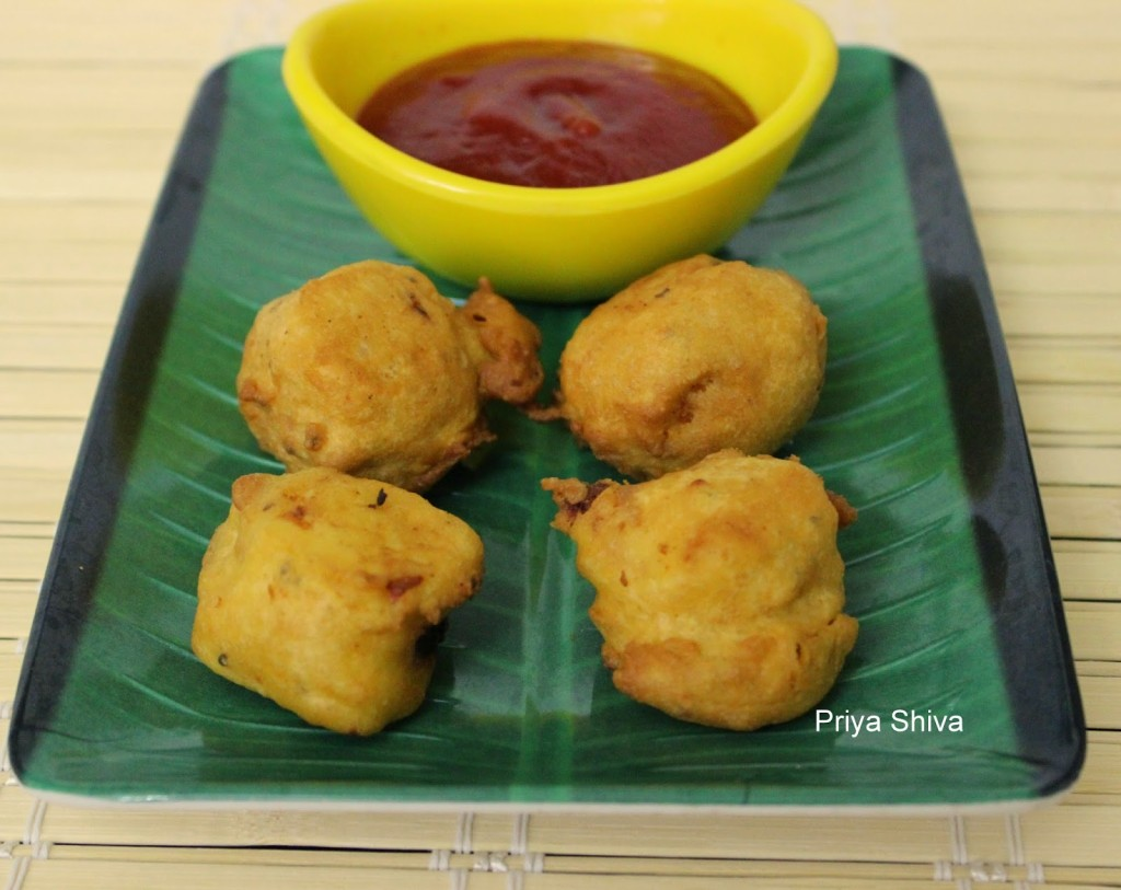 Rice Bonda Made with Leftover Rice