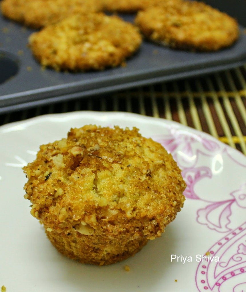 muffin, baking, eggless, snack, recipe, Apple Cherry Streusal Muffin
