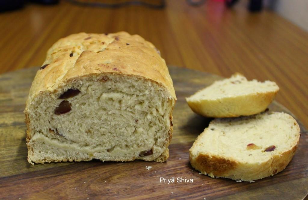 Eggless Dates Bread Recipe