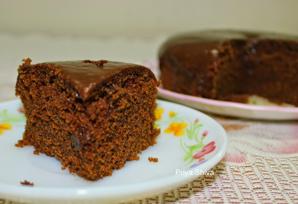 Eggless Chocolate Cake With Instant Coffee