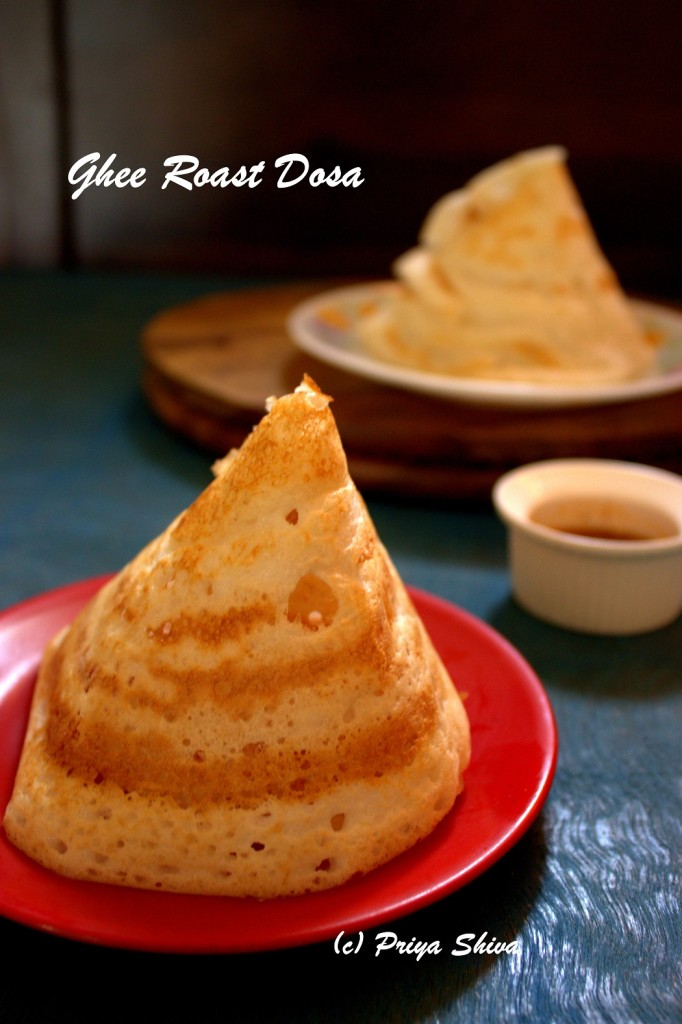 Mini Ghee Roast Dosa Recipe