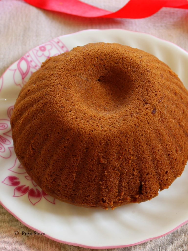Eggless Whole wheat Coconut Cake