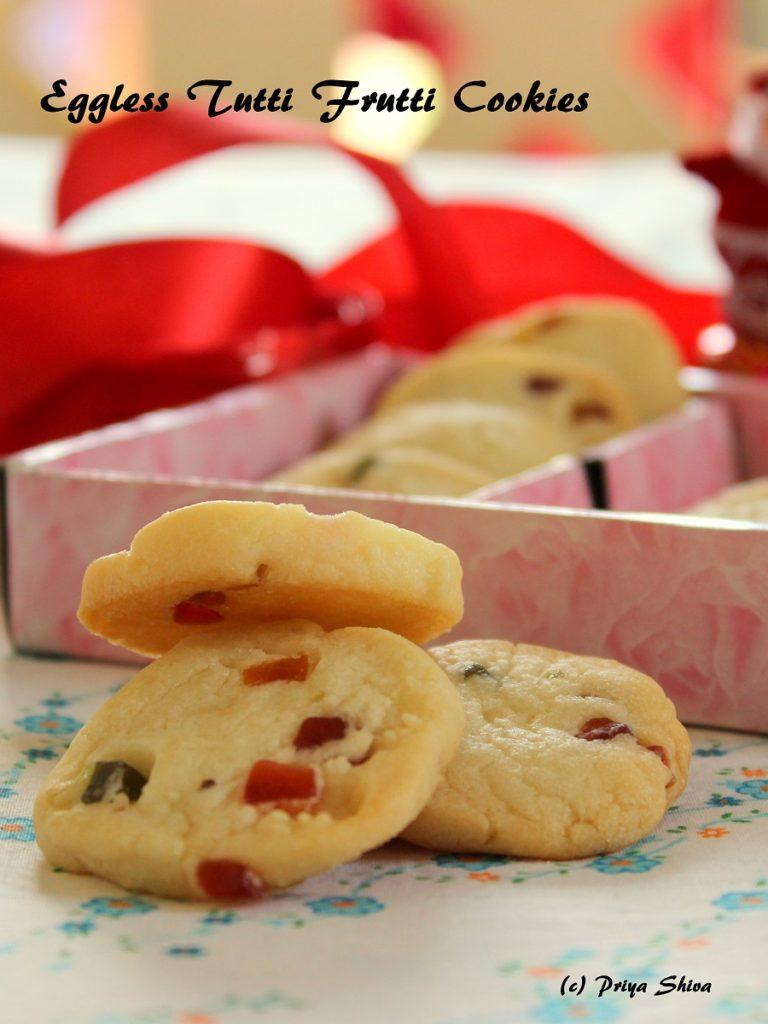 Eggless Tutti-Frutti Cookies