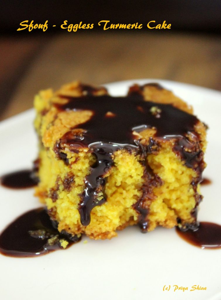 Eggless Lebanese Turmeric Cake – Sfouf