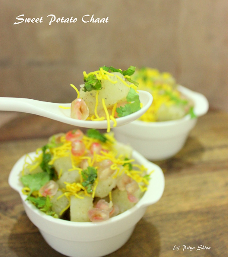 Sweet Potato Chaat / shakarkandi chaat