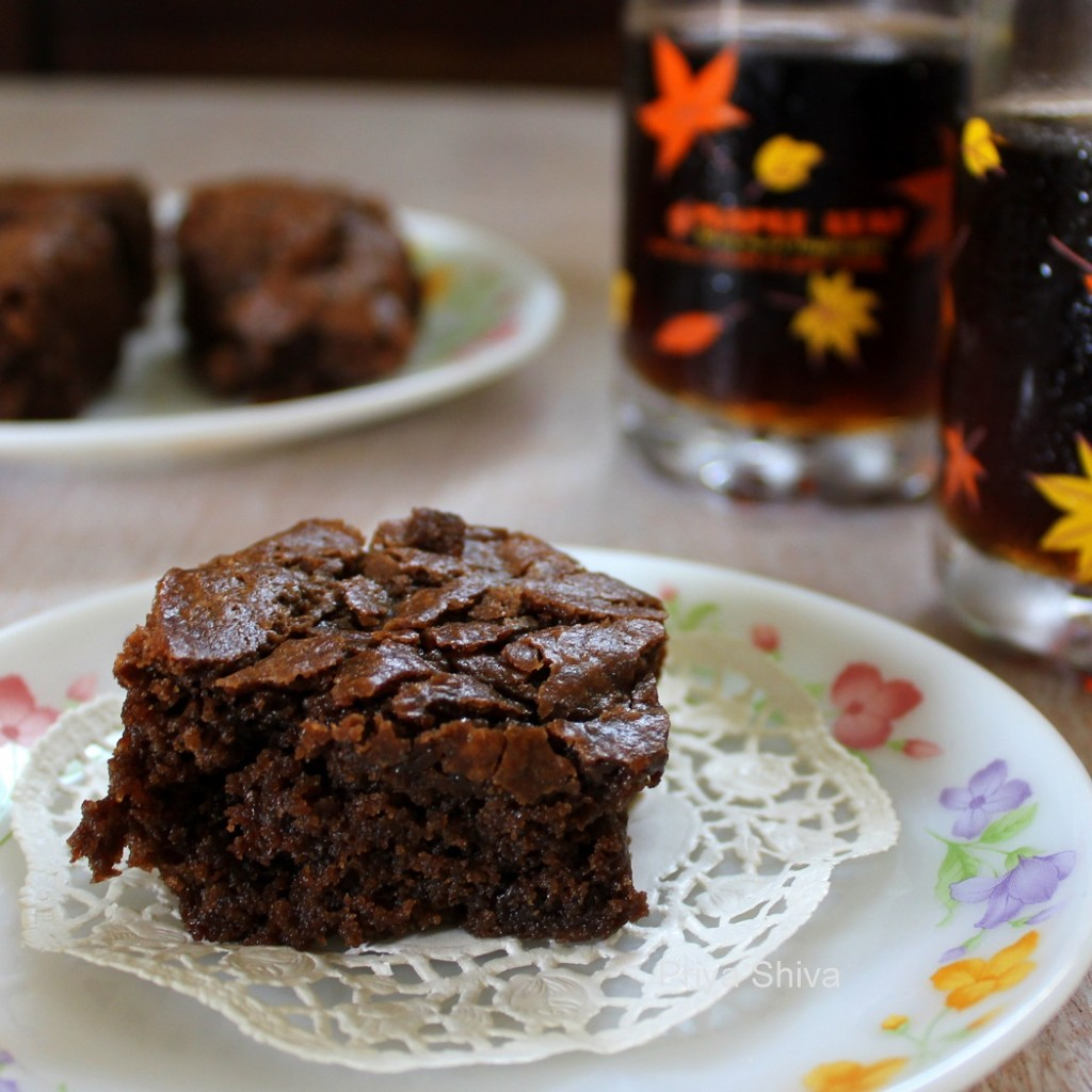 Eggless Dark Chocolate Brownies