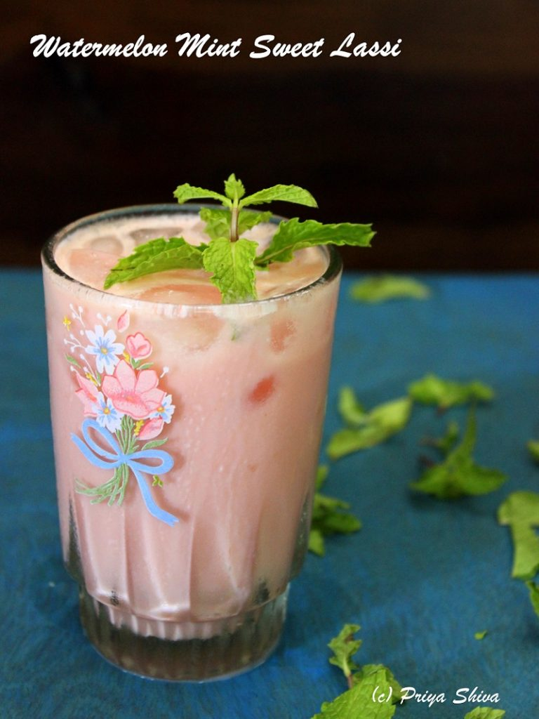 Watermelon Mint Sweet Lassi