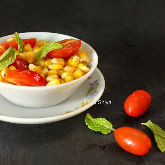 Corn salad, cherry tomatoes salad, summer salad