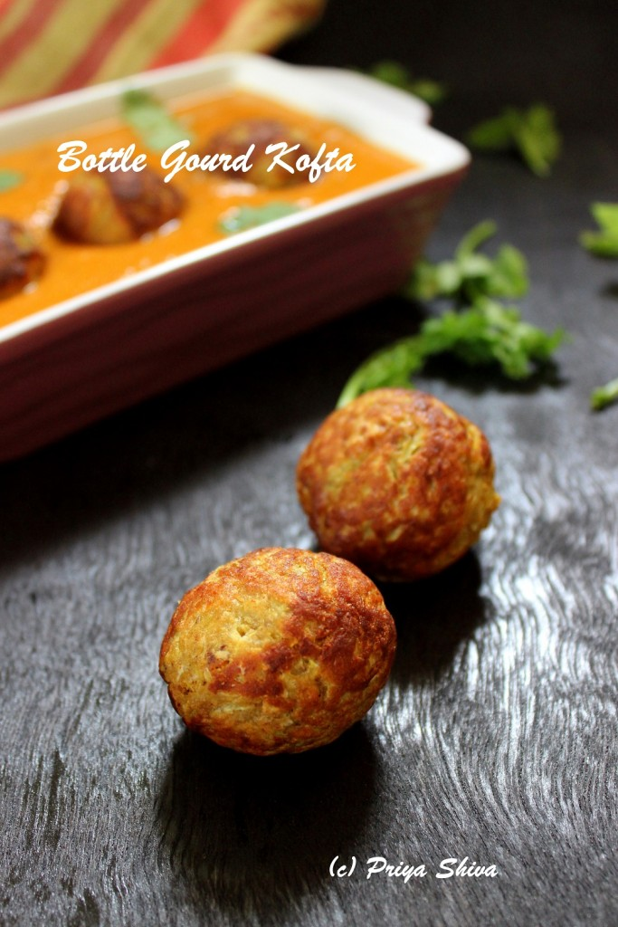Lauki Kofta / Bottle gourd kofta curry