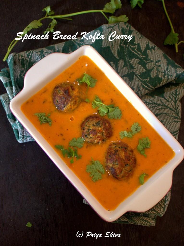 Spinach Bread Kofta Curry