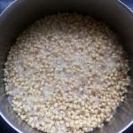 soaked rice, lentil