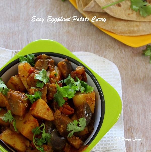 easy eggplant potato curry recipe
