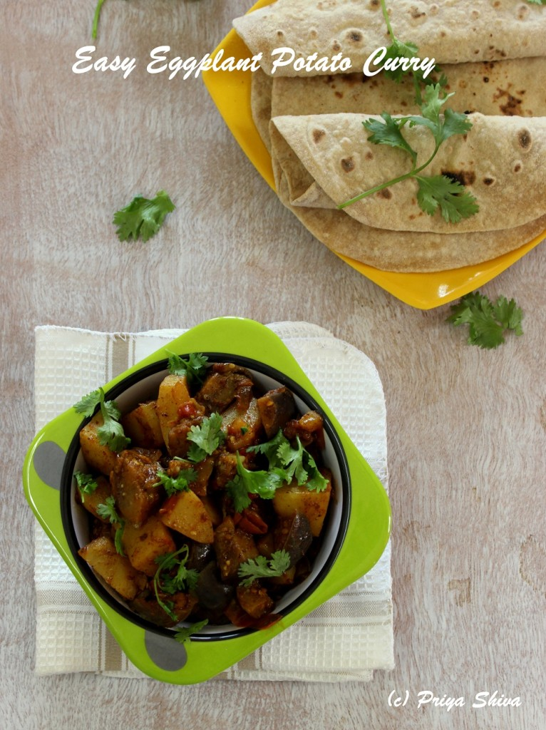Quick Eggplant Potato Curry