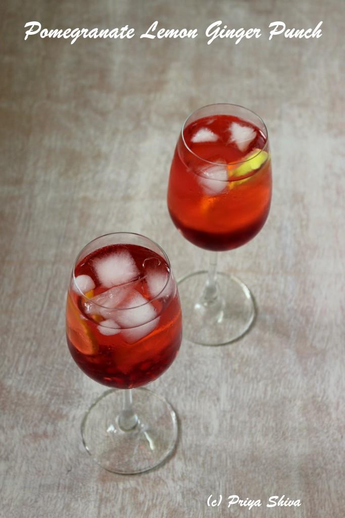 Pomegranate Lemon Ginger Punch