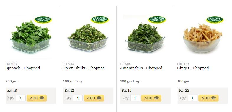 bigbasket fruit and vegetable listing