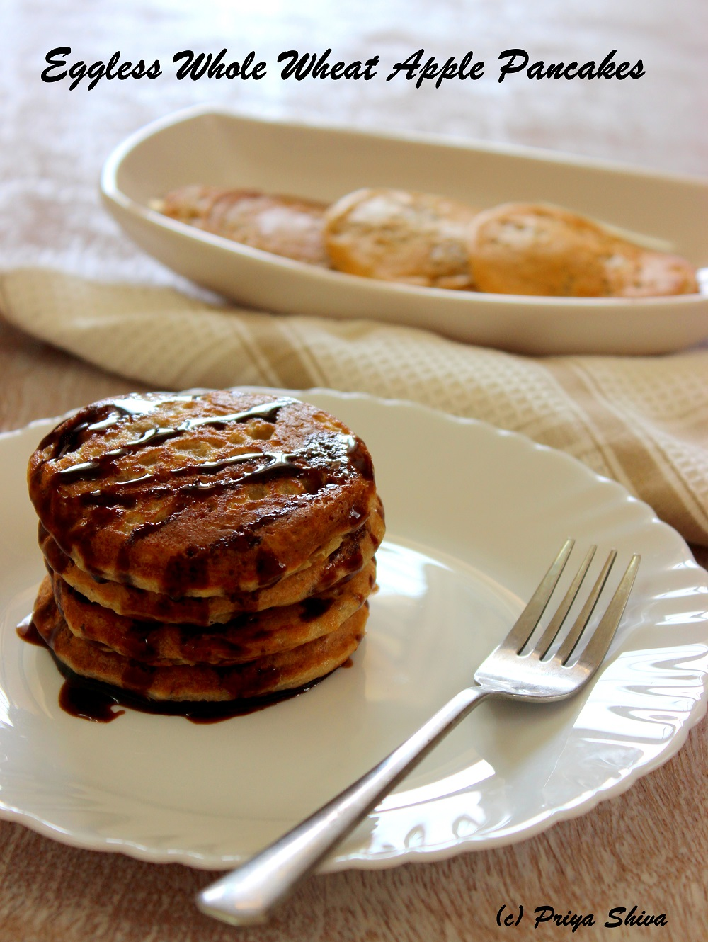 eggless pancakes Fluffy eggless pancakes recipe – 2 ways (buttermilk & yogurt): extremely easy  pancakes recipe that can be made using basic or everyday.