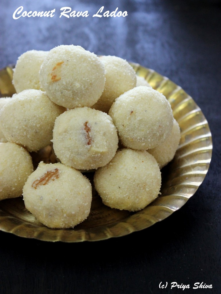 Coconut Rava Ladoo