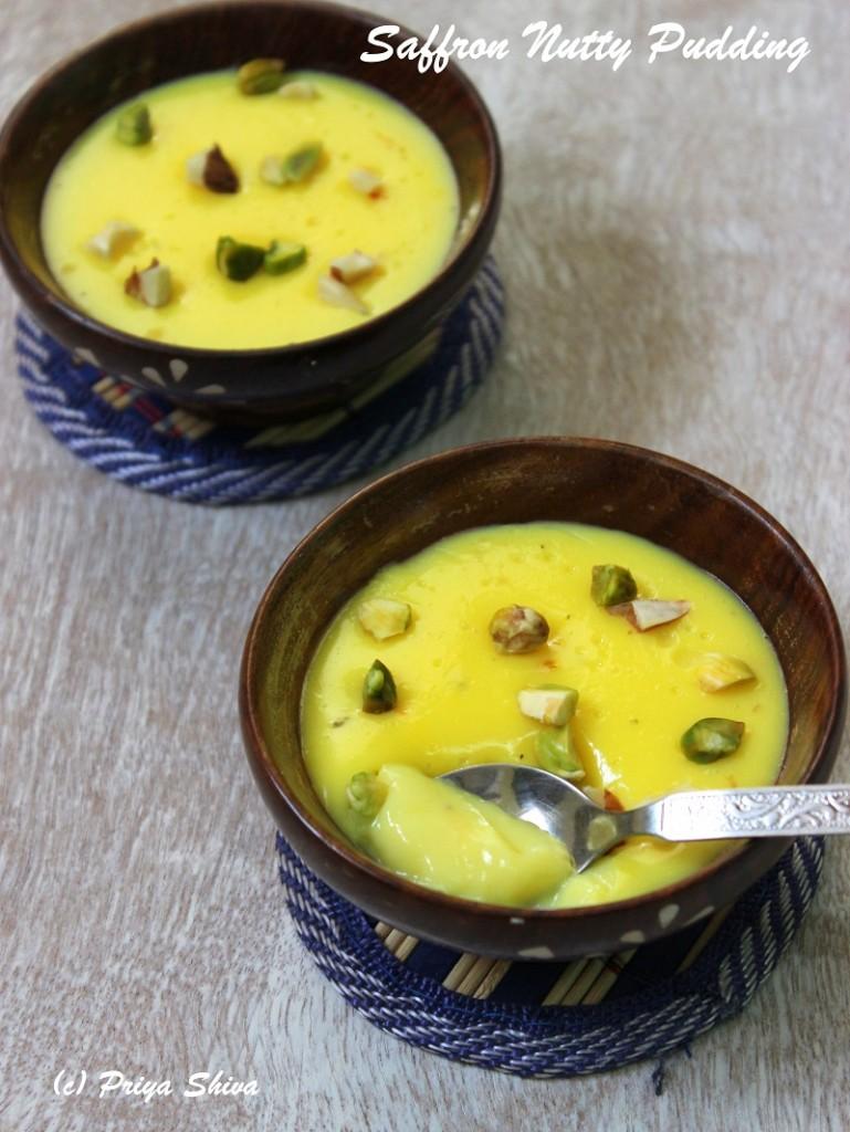 Easy Saffron Cardamom Pudding