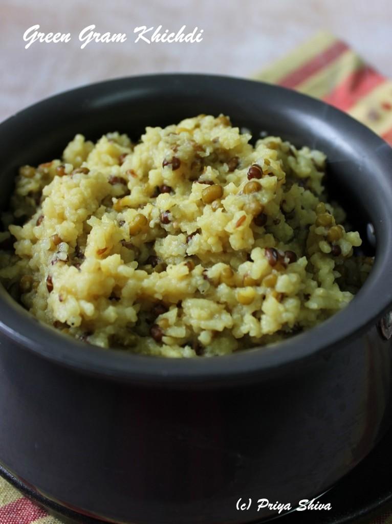 Moongachi Khichdi / Green Gram Khichdi