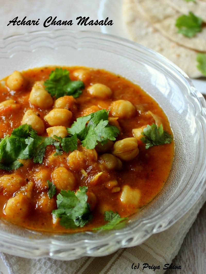 achaari chole masala