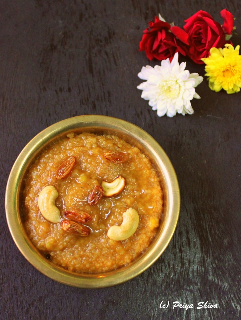 Varagu Arisi Sakkarai Pongal / Millet Sweet Pongal