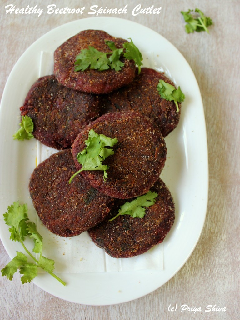Beetroot Spinach Cutlet Recipe