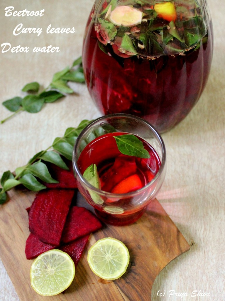 8 Delightful And Healthy SMOOTHIES, LEMONADES & BEVERAGES-Beetroot Curry Leaves Detox Water