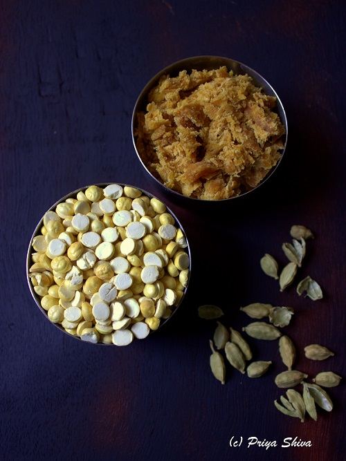 ingredients for pottukadalai urundai