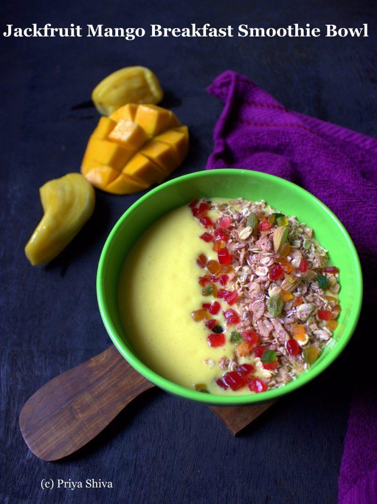 Jackfruit Mango Breakfast Smoothie Bowl