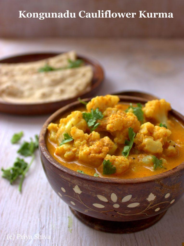 Kongunadu Cauliflower Kurma Recipe